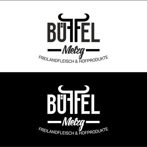 Logo für eine Büffel Metgerei