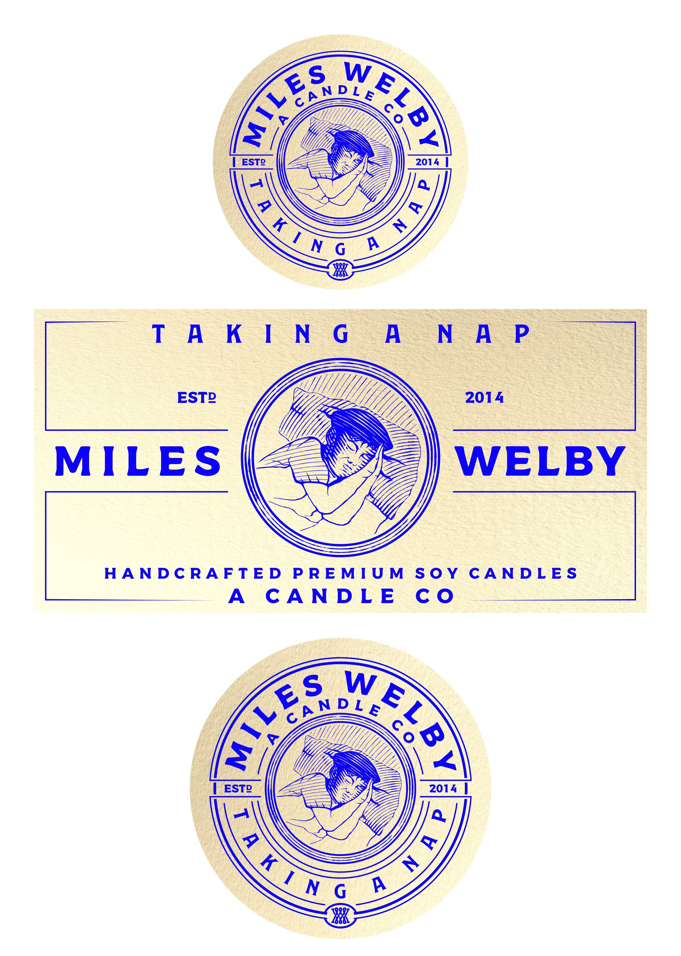 Miles Welby Taking a Nap label design