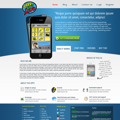 Help Laff Out Loud Application with a new website design