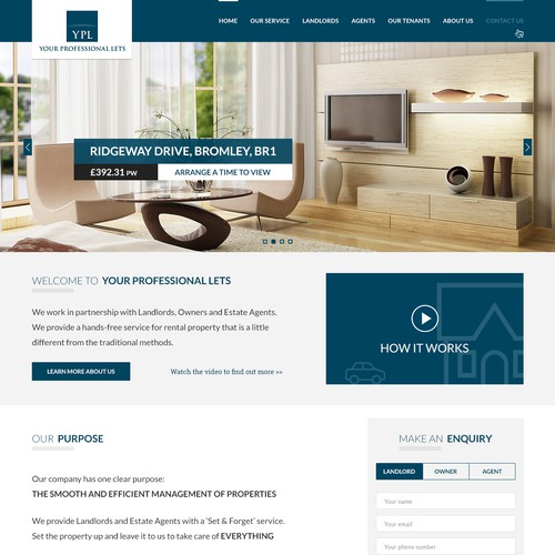 Web design concept for Property management  company