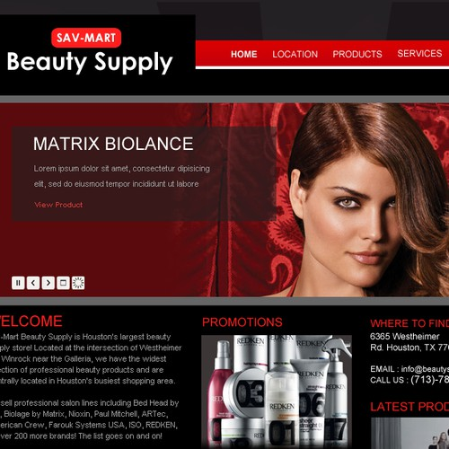 Sav-Mart Beauty Supply webite redesign >>Beauty Supply & Salon