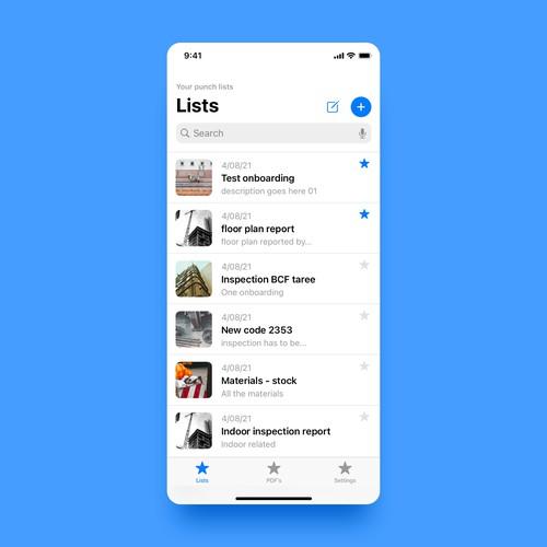 Construction app redesign