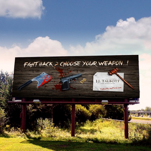 Create a brilliant billboard ad to stand out in a sea of boring billboards ads for attorneys.