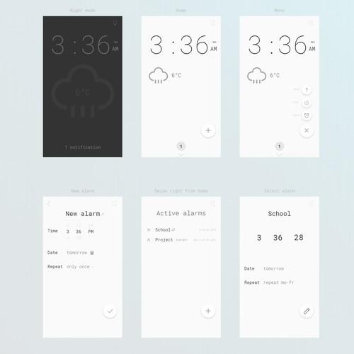 UX design for clock app
