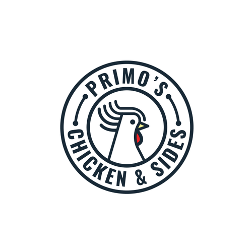Simple Fancy Rooster Logo Design
