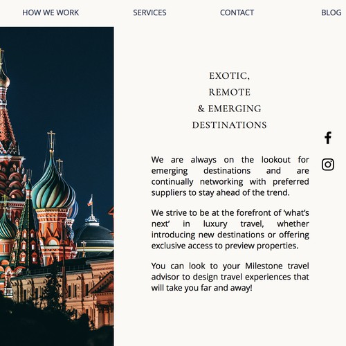 Logo and hosted website design for Milestone Travel Advisors