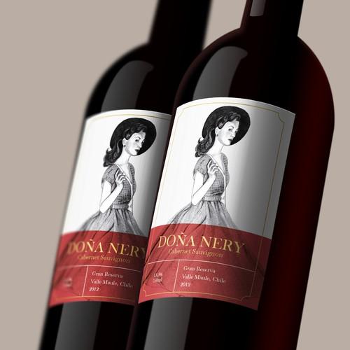 Doña Nery wine label