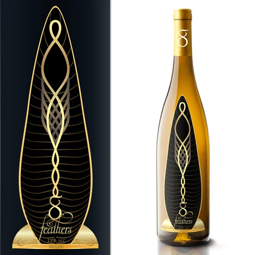 Luxury White Wine Label