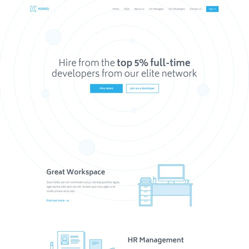 Homepage for Kodeq