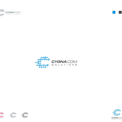 Provide the combination to unlock the perfect logo for CygnaCom Solutions