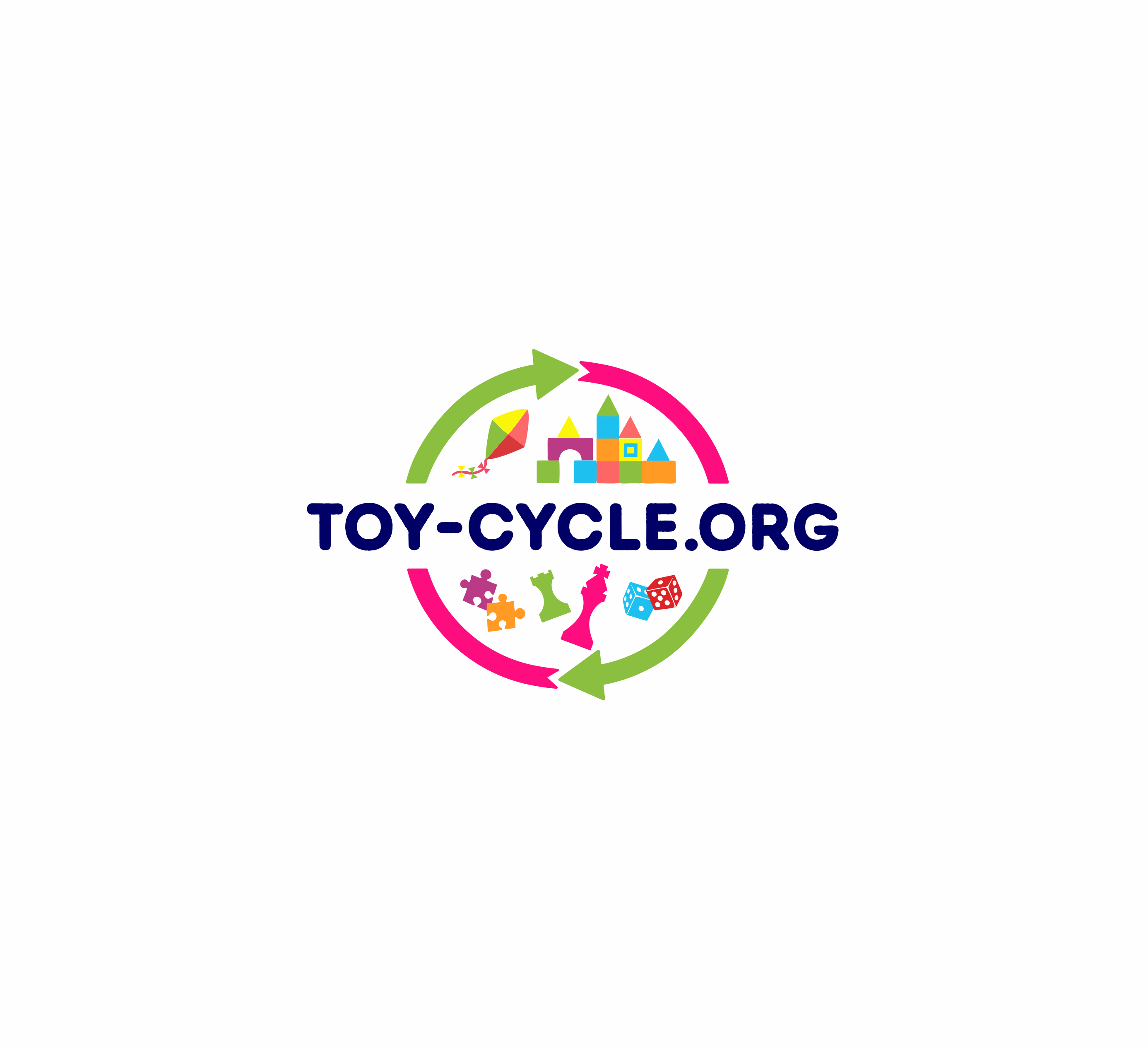 Create a playful design for Toy-cycle, an online toy recycle network