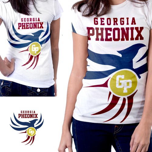 "T-Shirt Design proposal for ""Georgia Phoenix"""