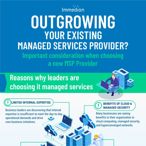 "Infographic ""Outgrowing your manager services provider"""