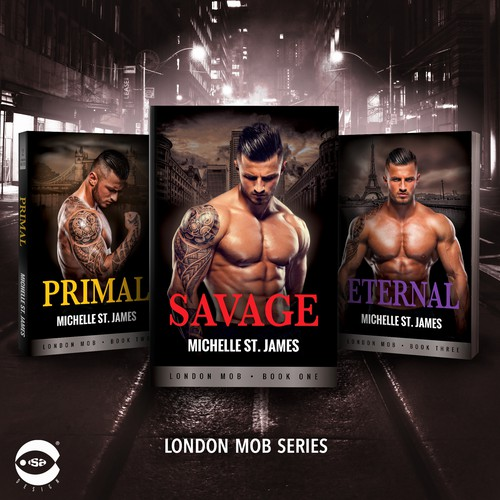 "Book covers for ""London Mob Series"" by Michelle St. James"