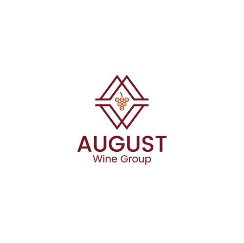 August wine group logo concept