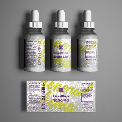 CBD Oil Label Concept