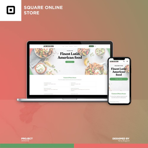Square Online Ordering Page Design