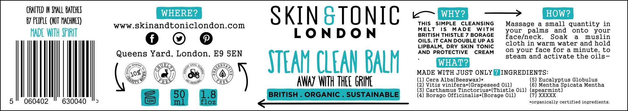 Label Design SKIN & TONIC