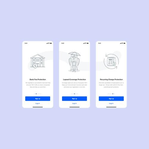 Intro Screen Designs