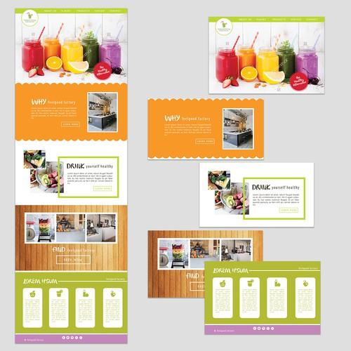 Web Design for Juice Bar