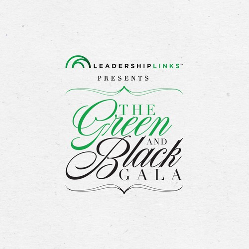 Winning design for The Green and Black Gala.