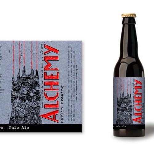 Label design for Alchemy Berlin Brewing