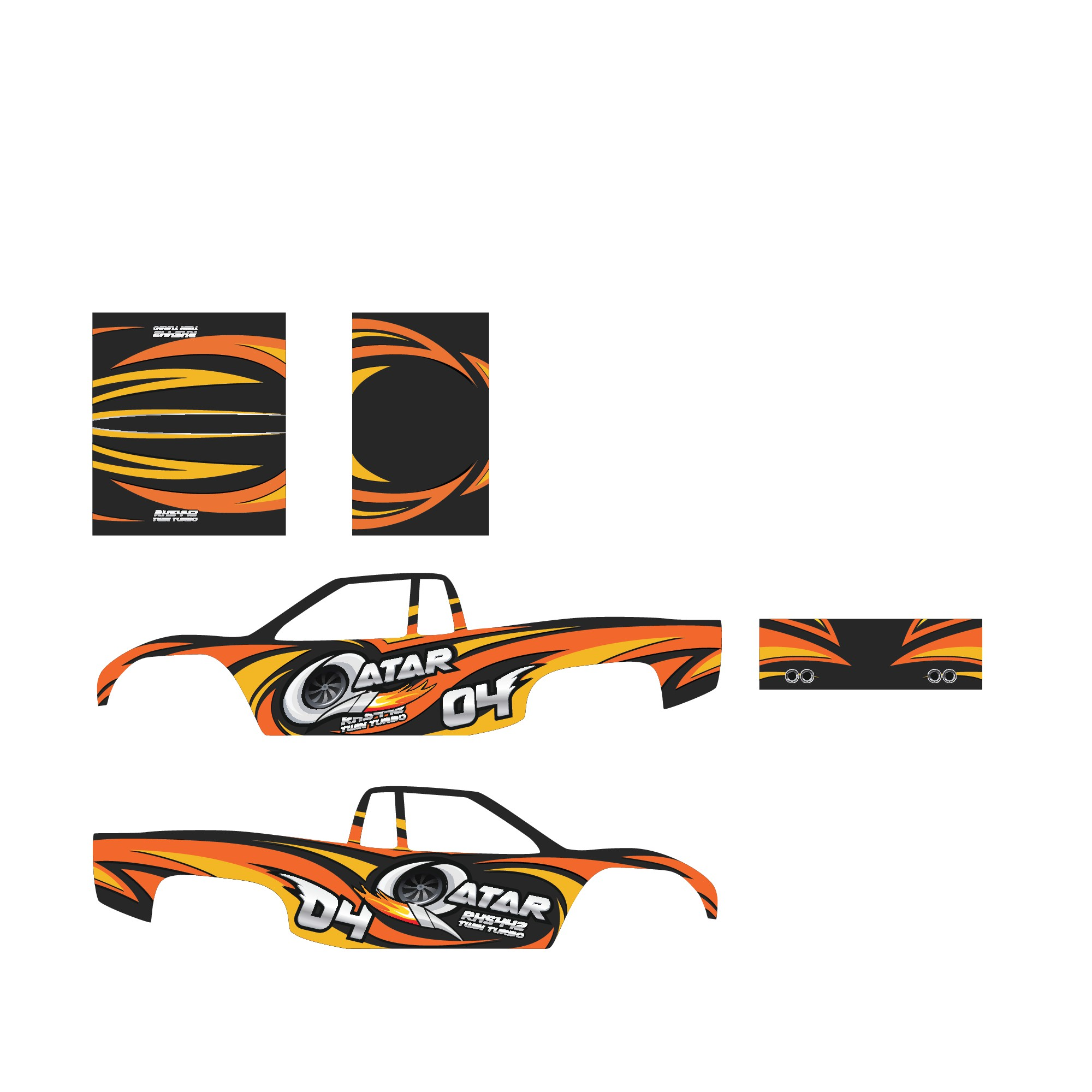 *GUARANTEED CONTEST* Subaru wrap design for trophy truck
