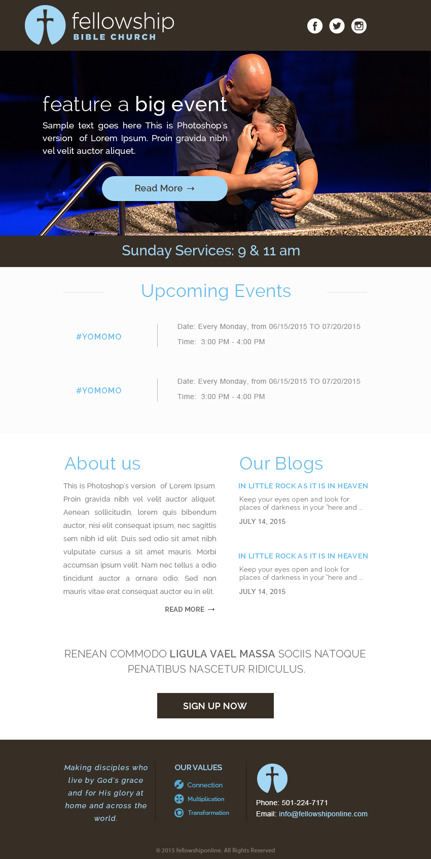 Email Newsletter Template for Church