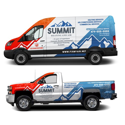 wrap design for summitt heating and air