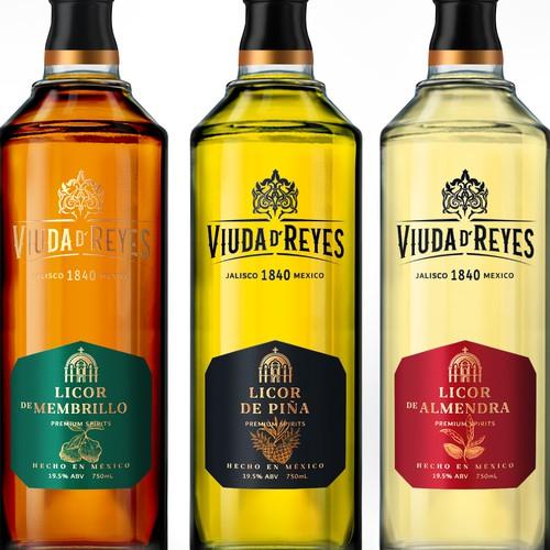 Liqueur Label Design from Premium Tequila manufacturer