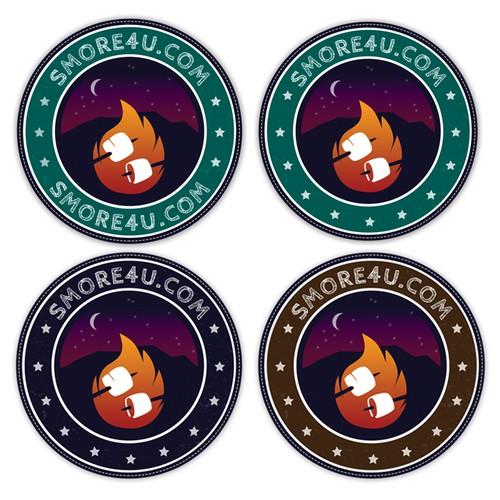Create a modern and playful campfire logo for smore4u.com!