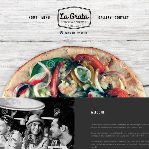 Website design for cool new Pizzoteca in NYC