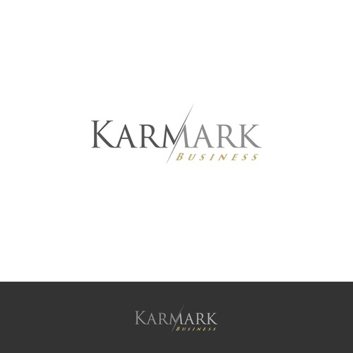 Create a catchy logo for Karmark business