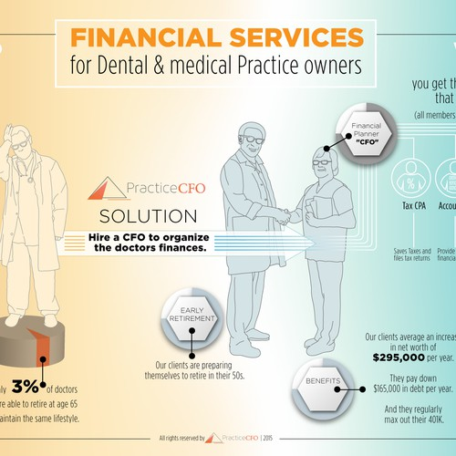 Light infographic for medical services
