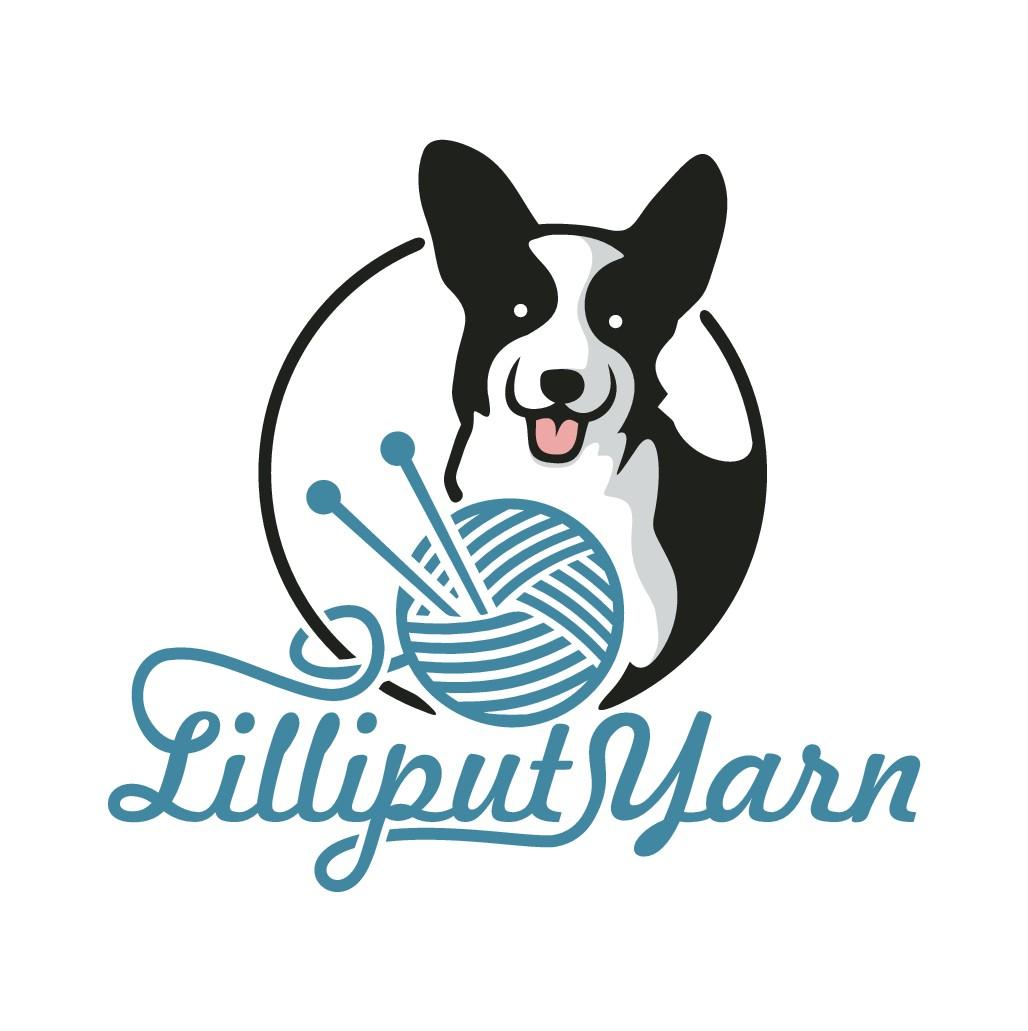 Lilliput Yarn needs a new logo including a corgi and yarn