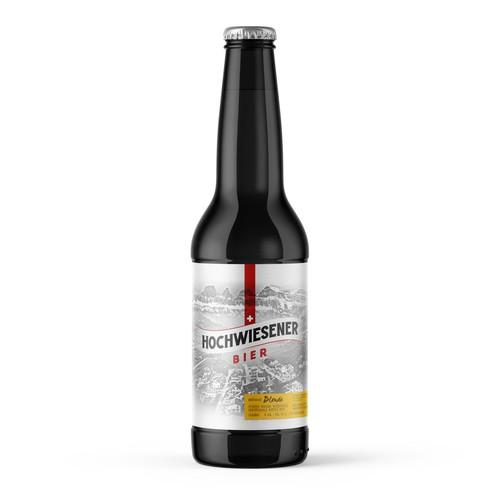 Craft beer label for Sarganserbräu
