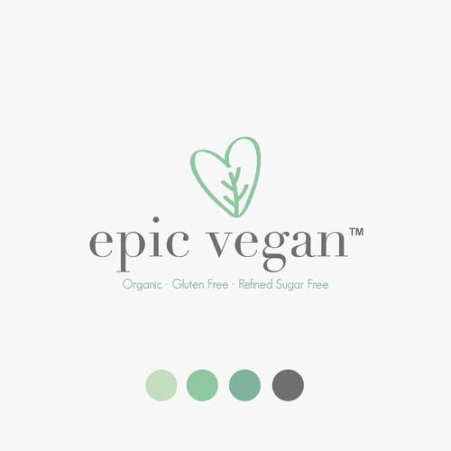 Catchy logo for vegan desserts