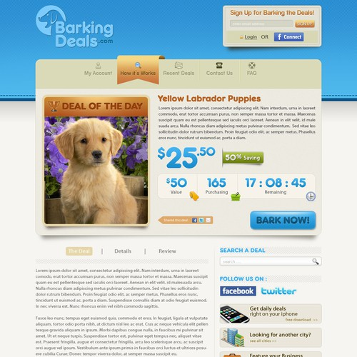 Barking Deals Website