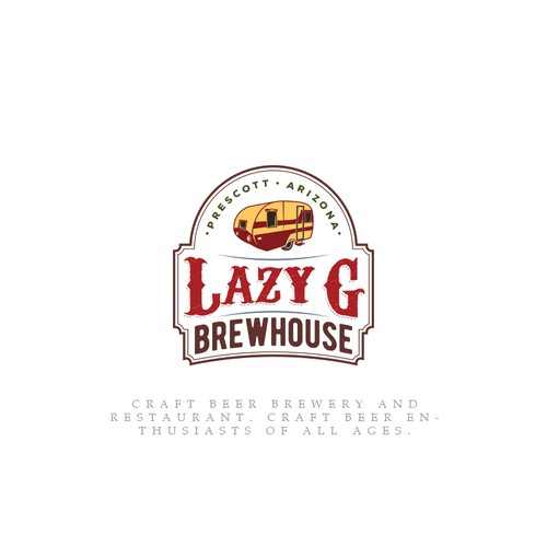 Vintage Design logo for a brewery house