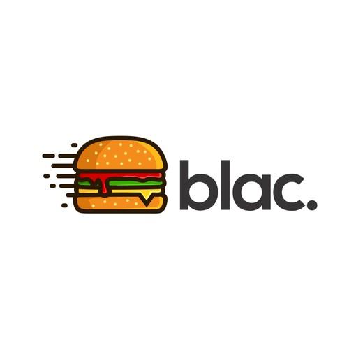 burger line art logo