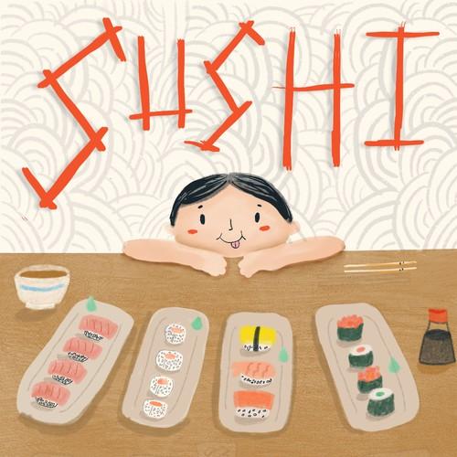 Sushi Book Illustration