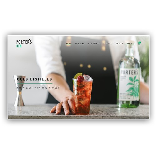 Porters Gin Squarespace Website