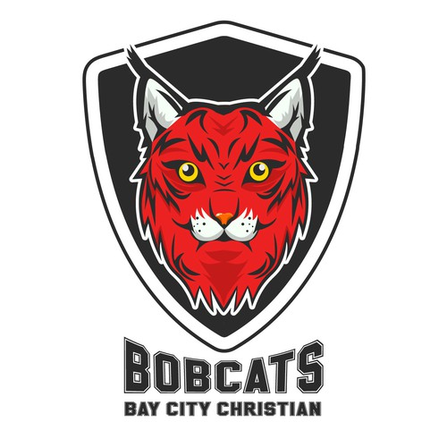 Mascot character bobcat