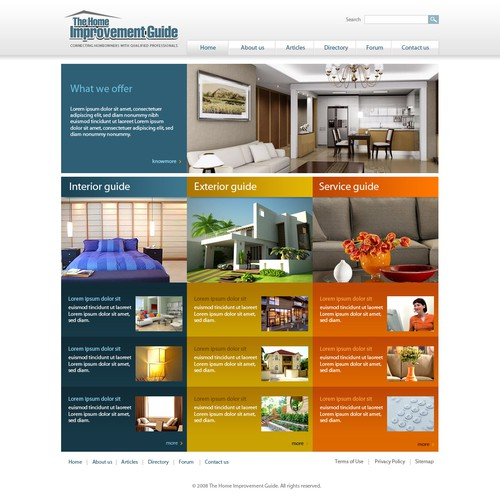 Website Design for Home Improvement Guide
