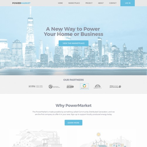 Website design for PowerMarket