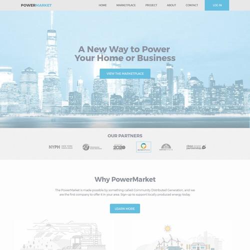 Website design for PowerMarket