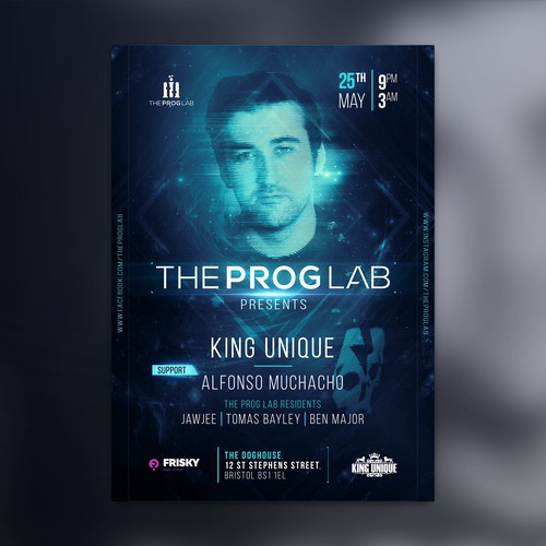 TheProgLab Party Poster Design.