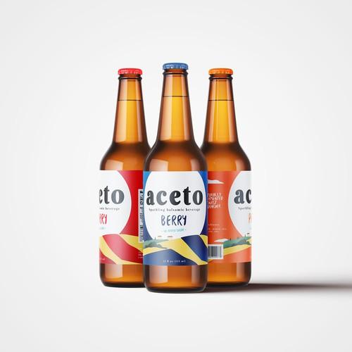 Label design for a sparkling balsamic beverage