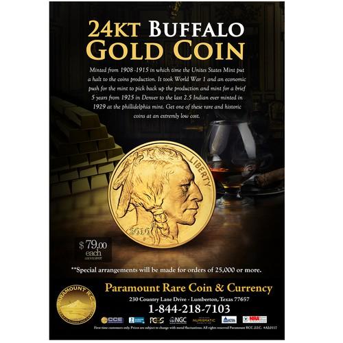 24kt Buffalo Gold Coin Ad