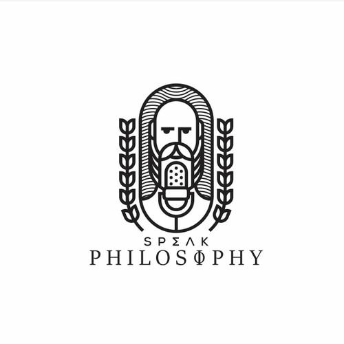Speak Philosophy logo proposal.